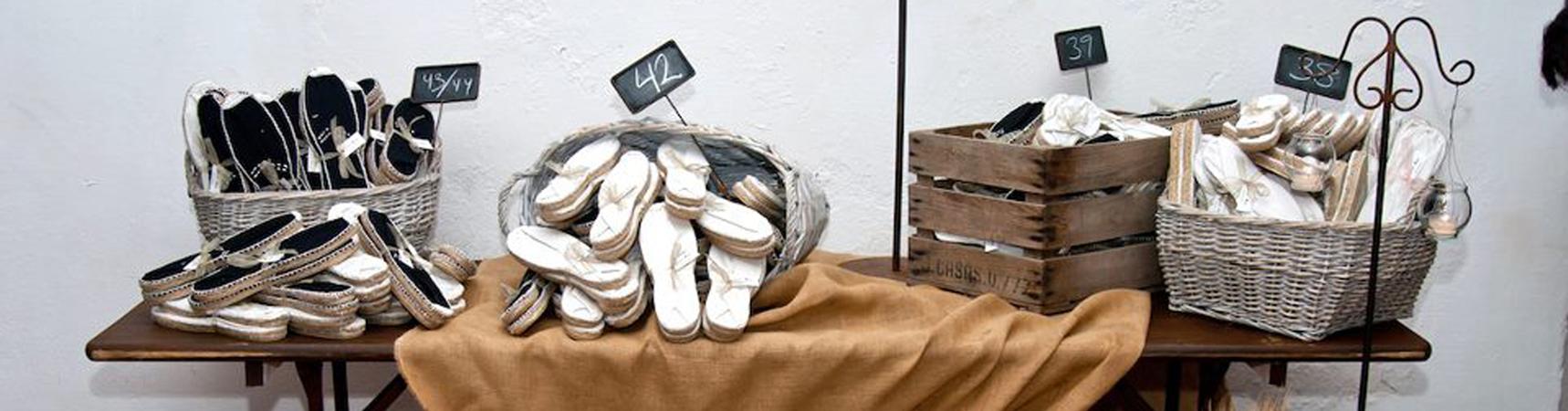 Alpargatas para invitados de boda